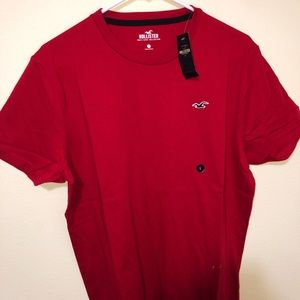 Large Hollister Red tee shirt